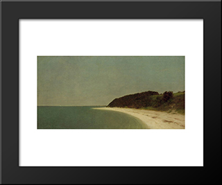Eaton'S Neck, Long Island: Modern Black Framed Art Print by John Frederick Kensett