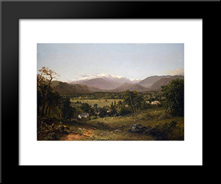 Mount Washington From The Valley Of Conway: Modern Black Framed Art Print by John Frederick Kensett