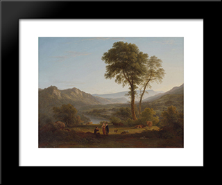 At Matlock - Mist Rising: Modern Black Framed Art Print by John Glover