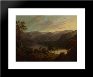 Landscape View In Cumberland: Modern Black Framed Art Print by John Glover