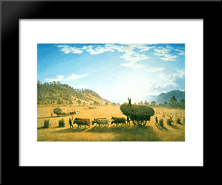 My Harvest Home: Modern Black Framed Art Print by John Glover