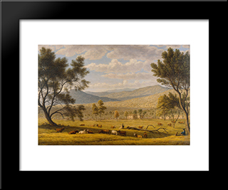 Patterdale Farm: Modern Black Framed Art Print by John Glover