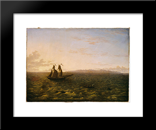The Island Of Madeira: Modern Black Framed Art Print by John Glover