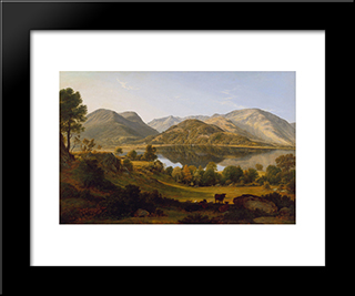 Ullswater, Early Morning: Modern Black Framed Art Print by John Glover