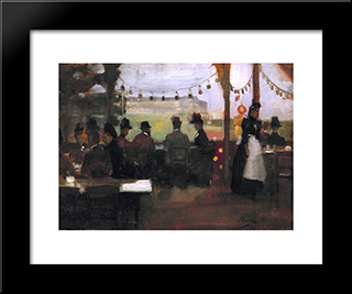 The Glasgow Exhibition: Modern Black Framed Art Print by John Lavery