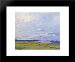 The Golf Course, North Berwick: Modern Black Framed Art Print by John Lavery