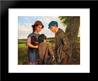 John Lee-Bird Nesting: Modern Black Framed Art Print by John Lee