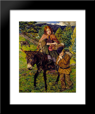 John Lee-Going To Market: Modern Black Framed Art Print by John Lee