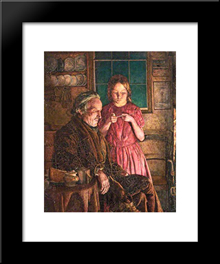 John Lee-Grandfather'S Comfort: Modern Black Framed Art Print by John Lee