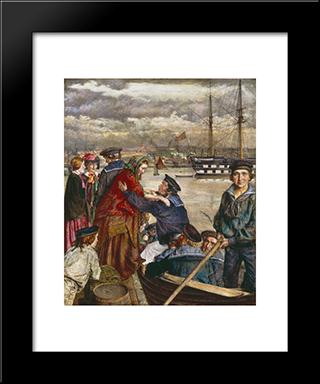John Lee-Sweethearts And Wives: Modern Black Framed Art Print by John Lee