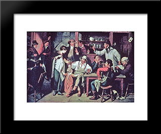 The Village Tavern: Modern Black Framed Art Print by John Lewis Krimmel