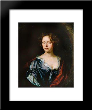 Anne Rider, Sister Of John Smith, Speaker Of The House Of Commons: Modern Black Framed Art Print by John Riley
