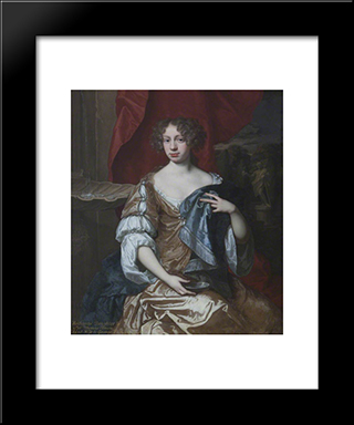 Catherine Vernon, Mrs George Vernon Of Sudbury: Modern Black Framed Art Print by John Riley