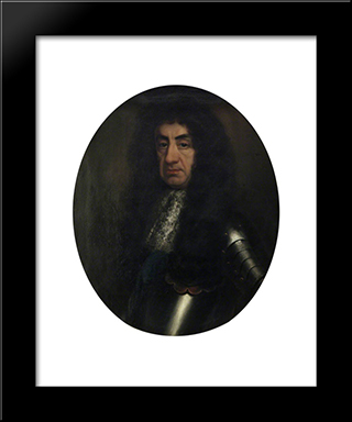 Charles Ii: Modern Black Framed Art Print by John Riley