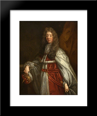 Colin, 3Rd Earl Of Balcarres: Modern Black Framed Art Print by John Riley