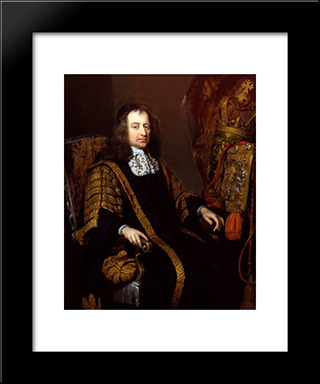 Francis North, 1St Baron Guilford: Modern Black Framed Art Print by John Riley