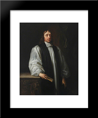 Henry Compton: Modern Black Framed Art Print by John Riley