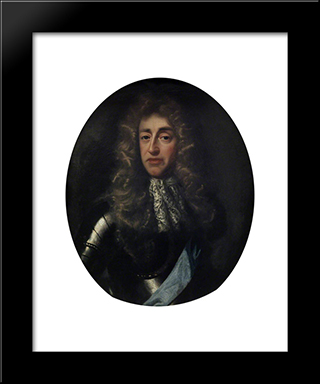 James, Duke Of York, Later King James Ii: Modern Black Framed Art Print by John Riley