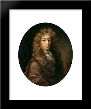 James Drummond: Modern Black Framed Art Print by John Riley
