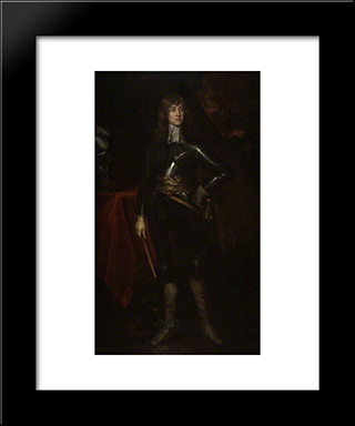 James Scott: Modern Black Framed Art Print by John Riley
