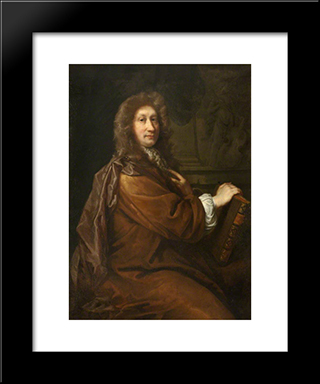 John Dryden: Modern Black Framed Art Print by John Riley