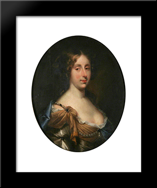 Mrs Joseph Cox, Nee Elizabeth Macro: Modern Black Framed Art Print by John Riley