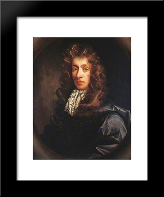 Portrait Of A Man: Modern Black Framed Art Print by John Riley