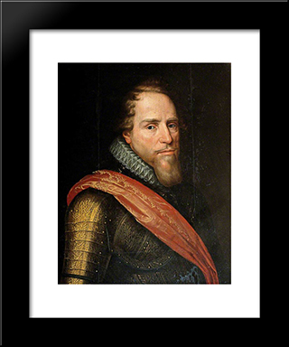 Prince Maurice Of Nassau, Prince Of Orange: Modern Black Framed Art Print by John Riley