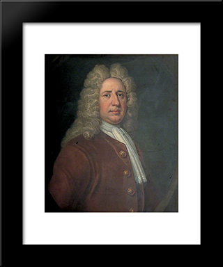 Richard Oxenden: Modern Black Framed Art Print by John Riley