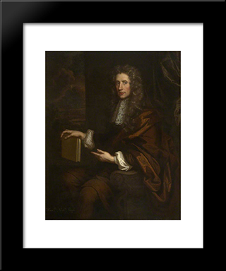 Robert Boyle: Modern Black Framed Art Print by John Riley