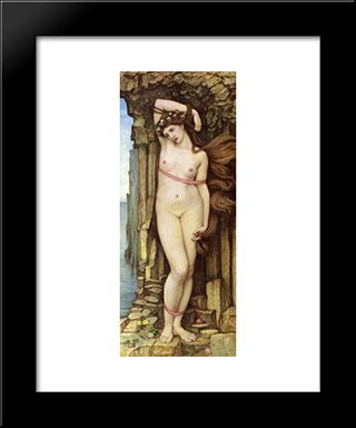 Andromeda: Modern Black Framed Art Print by John Roddam Spencer Stanhope