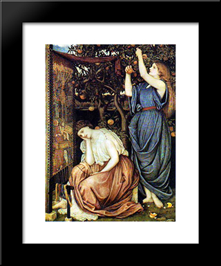 Penelope: Modern Black Framed Art Print by John Roddam Spencer Stanhope