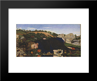 Robin Of Modern Times: Modern Black Framed Art Print by John Roddam Spencer Stanhope