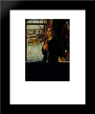 Thoughts Of The Past: Modern Black Framed Art Print by John Roddam Spencer Stanhope