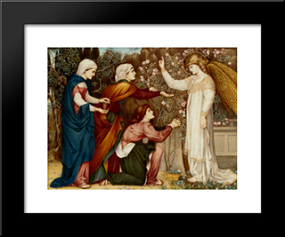 Why Seek Ye The Living Among The Dread (St Luke, Chapter Xiv, Verse 5): Modern Black Framed Art Print by John Roddam Spencer Stanhope