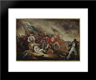 The Death Of General Warren At The Battle Of Bunker'S Hill, June 17, 1775: Modern Black Framed Art Print by John Trumbull