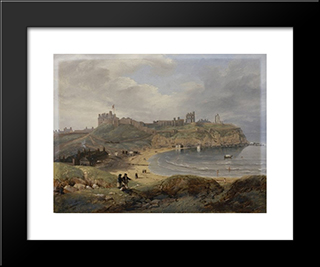 Prior'S Haven, Tynemouth: Modern Black Framed Art Print by John Wilson Carmichael
