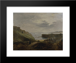 Prior'S Haven, Tynemouth - Sunrise: Modern Black Framed Art Print by John Wilson Carmichael