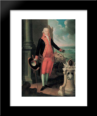 Ramon De Castro: Modern Black Framed Art Print by Jose Campeche