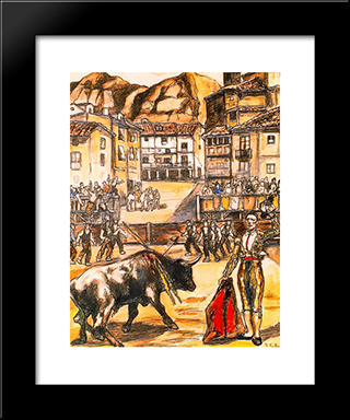Cape In A Village: Modern Black Framed Art Print by Jose Gutierrez Solana