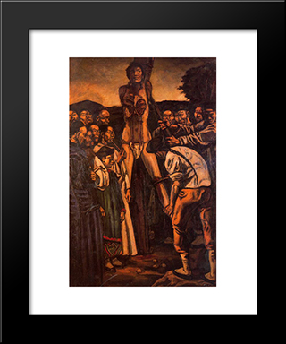 Chinese Torture: Modern Black Framed Art Print by Jose Gutierrez Solana
