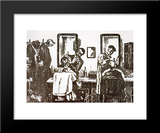People: Modern Black Framed Art Print by Jose Gutierrez Solana