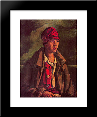 Portrait Of Mrs. Amalia Gutierrez-Solana: Modern Black Framed Art Print by Jose Gutierrez Solana