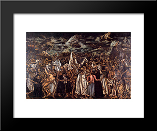 The End Of The World: Modern Black Framed Art Print by Jose Gutierrez Solana