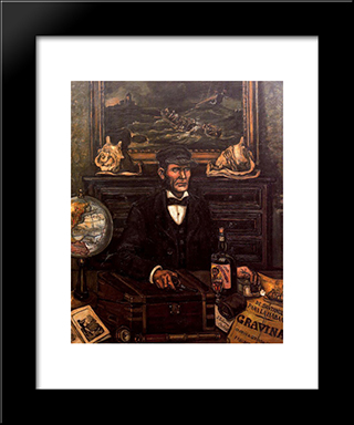 The Merchant Captain: Modern Black Framed Art Print by Jose Gutierrez Solana
