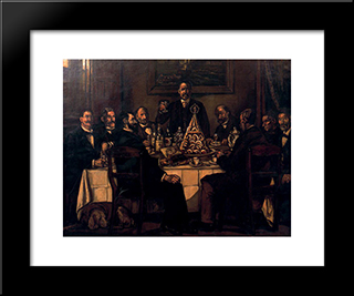 The Return Of The Indian: Modern Black Framed Art Print by Jose Gutierrez Solana
