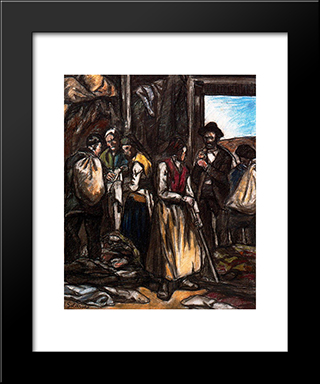 The Scavengers: Modern Black Framed Art Print by Jose Gutierrez Solana