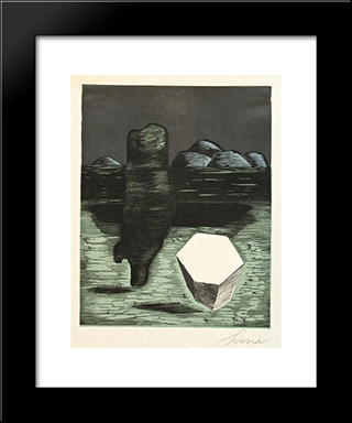 Crystal: Modern Black Framed Art Print by Josef Sima