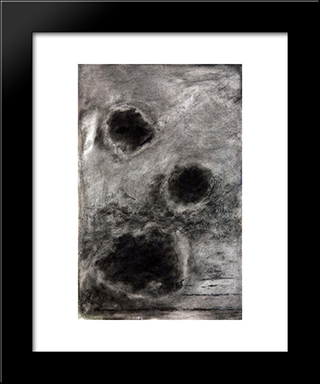 Drops Of Light: Modern Black Framed Art Print by Josef Sima