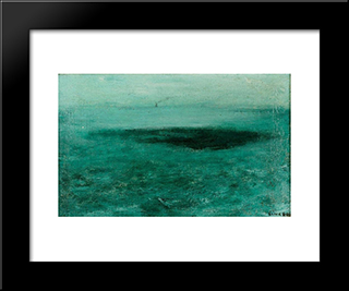 Mer: Modern Black Framed Art Print by Josef Sima